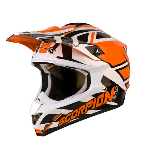 Scorpion VX 15 Air Unadilla off road helmet Orange White Black