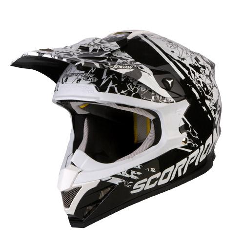Casco cross Scorpion VX 15 Air Wrap Nero Bianco