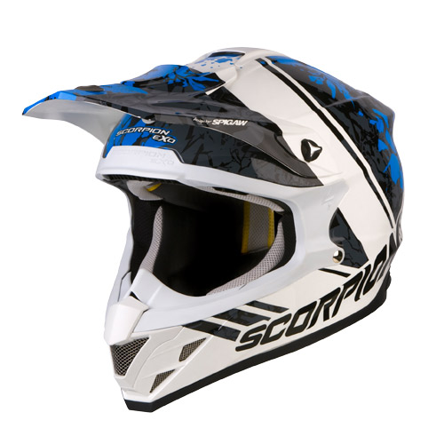 Scorpion VX 15 Air Wrap off road helmet White Blue Black