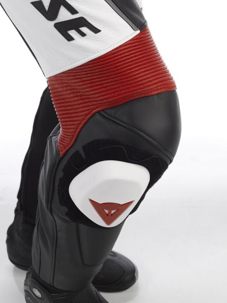 Dainese DRAKEN leather divisible suit White-Red