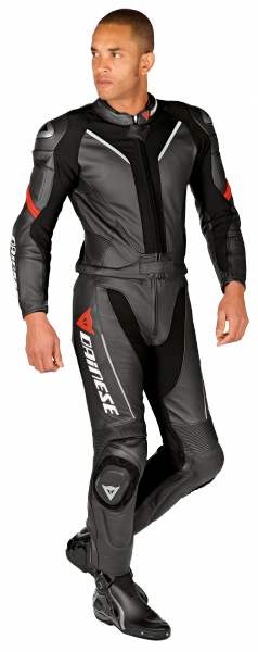 Dainese DRAKEN leather divisible suit Black
