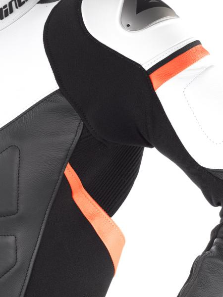 Dainese AVRO DIV. leather divisible suit Black-Red-White
