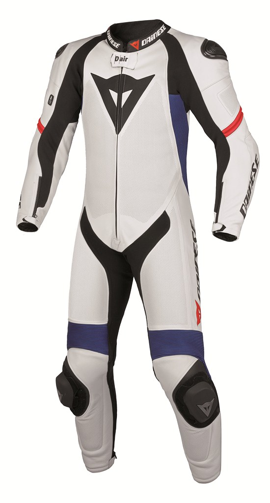 Dainese laguna S-Pred Pro Leather suit white-blue metal