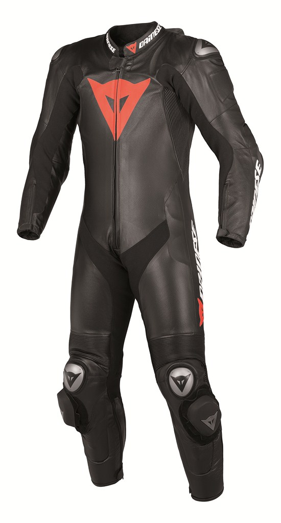 Dainese Team P. Estiva women Leather suit black-black