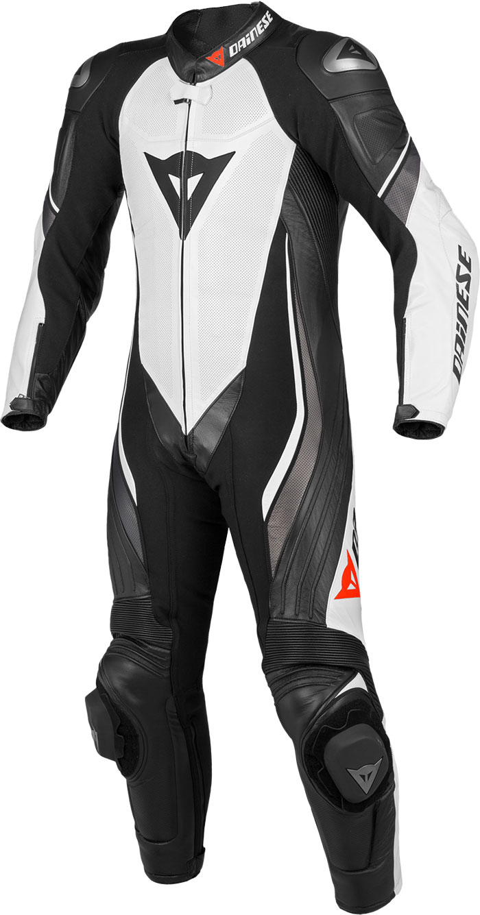 Dainese leather motorcycle suit summer Trickster Evo White Black