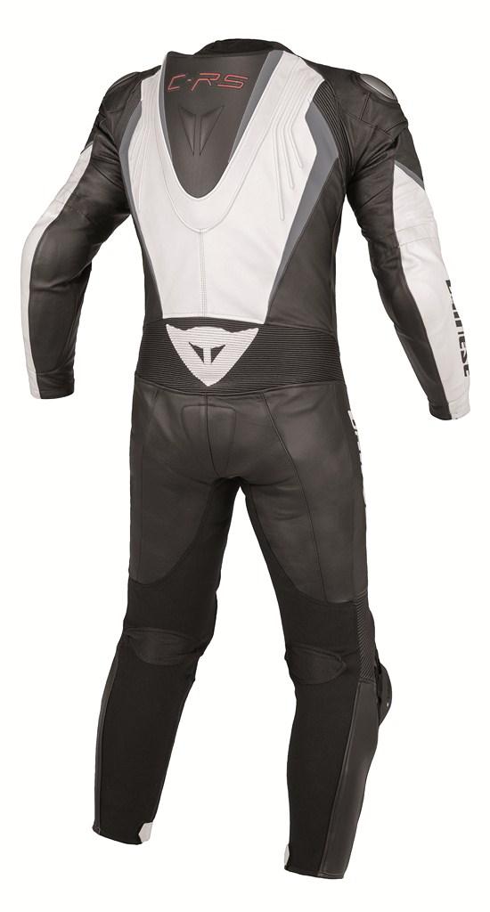 Dainese Crono P. Estiva leather suit white-black-anthracite