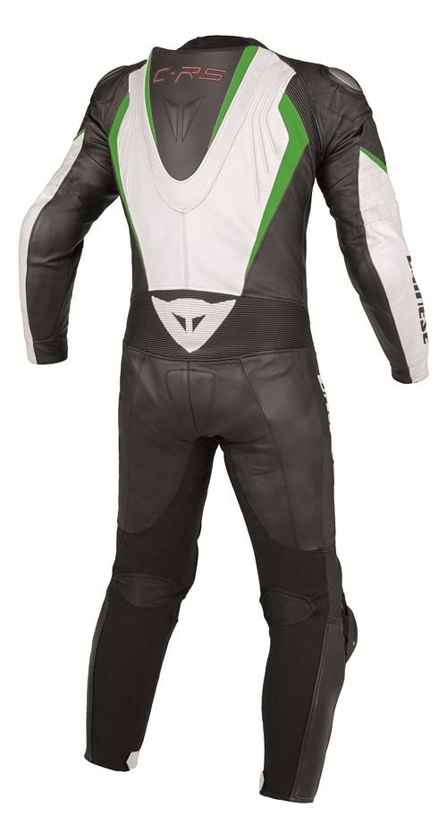 Dainese Crono P. Estiva leather suit white-black-green