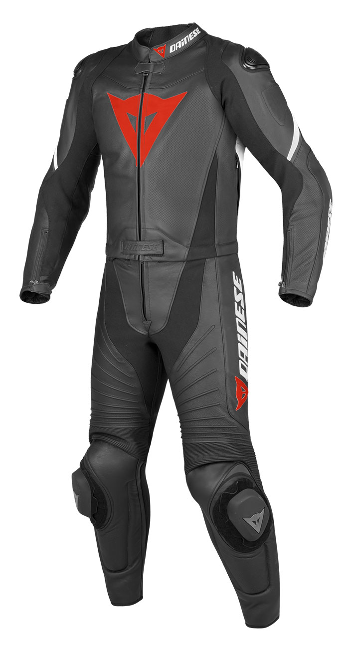 Divisible Dainese leather motorcycle suit summer Aerster Black B