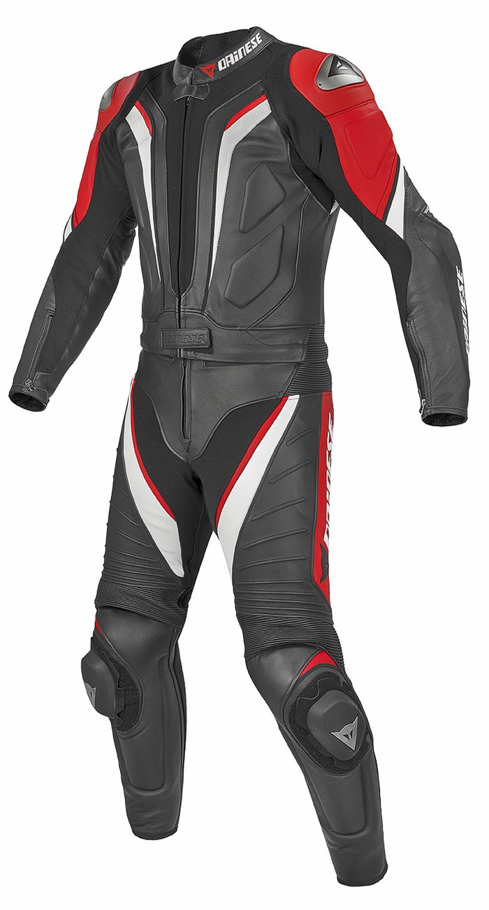 Divisible leather biker motorcycle jacket Dainese Aspide New Bla