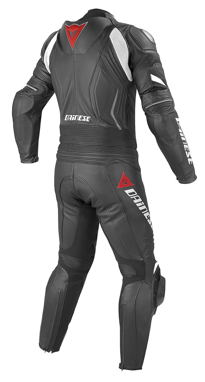 Dainese leather motorcycle suit divisible summer Laguna Seca Evo