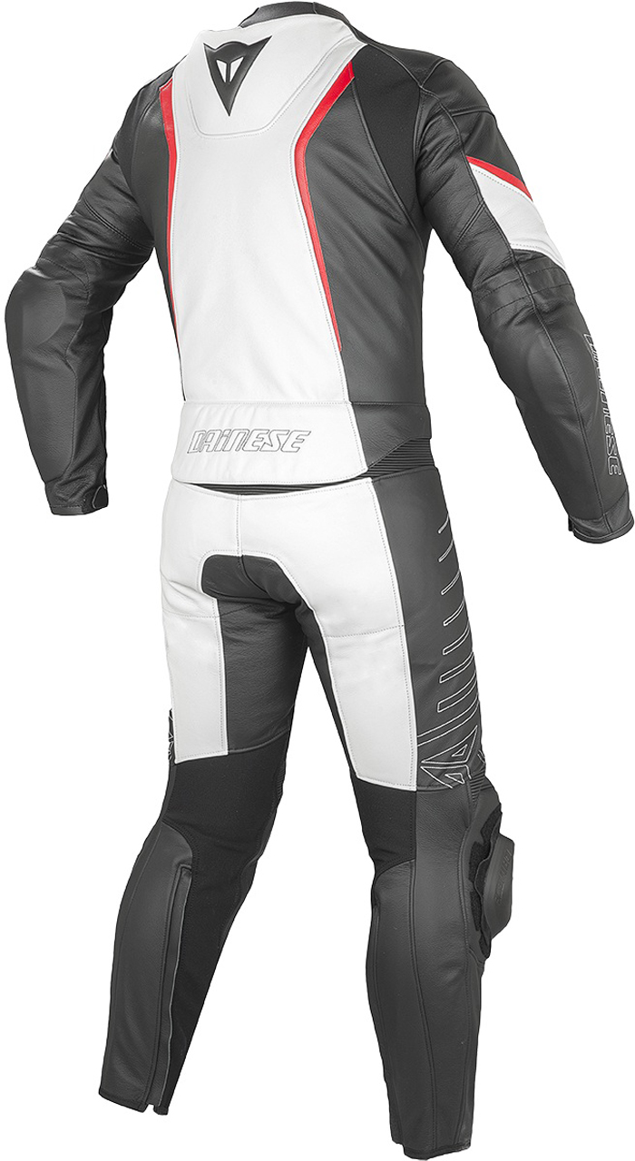 Dainese Racing leather divisible suit White Black Ros