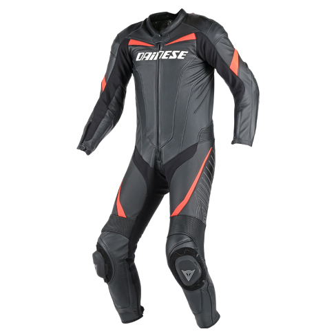 Dainese Racing leather summer suit Black Red