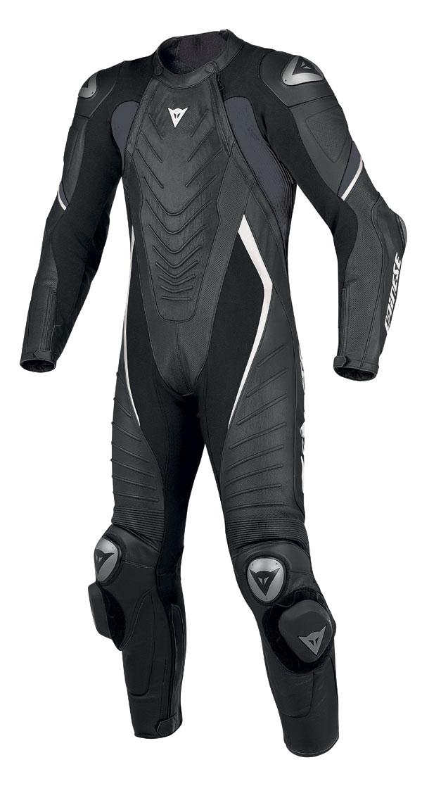 Dainese Aero C2 leather suit Black White
