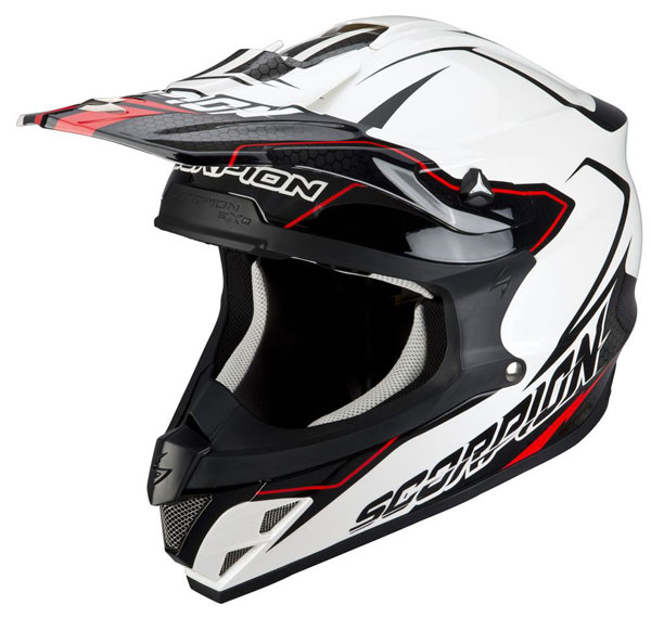 Cross helmet Scorpion VX 15 Light Black White Pearl