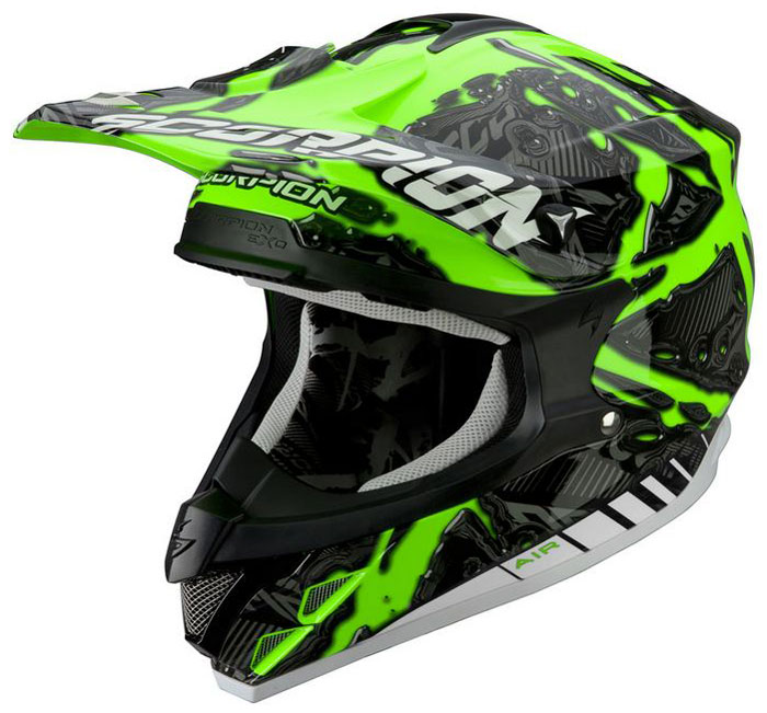 Casco cross Scorpion VX 15 Petrol Verde fluo