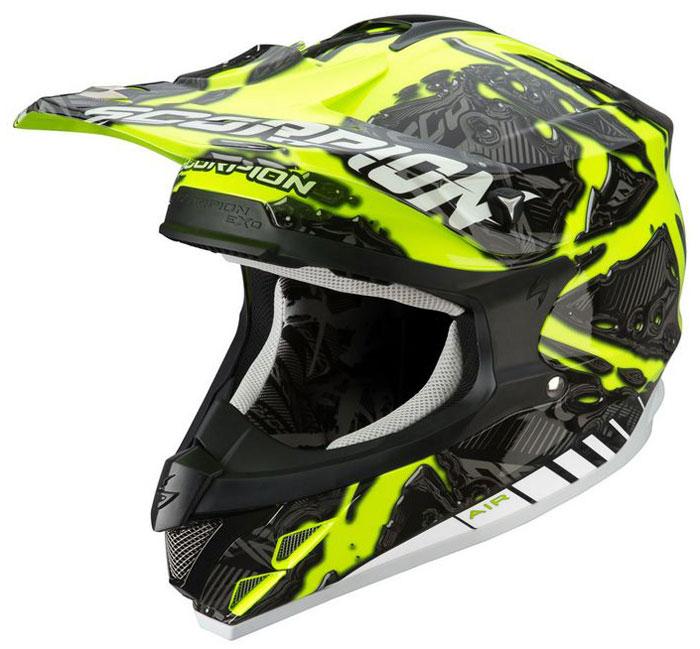 Casco cross Scorpion VX 15 Petrol Giallo neon