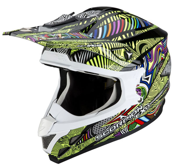 Cross helmet Scorpion VX 15 Vector Multicolor