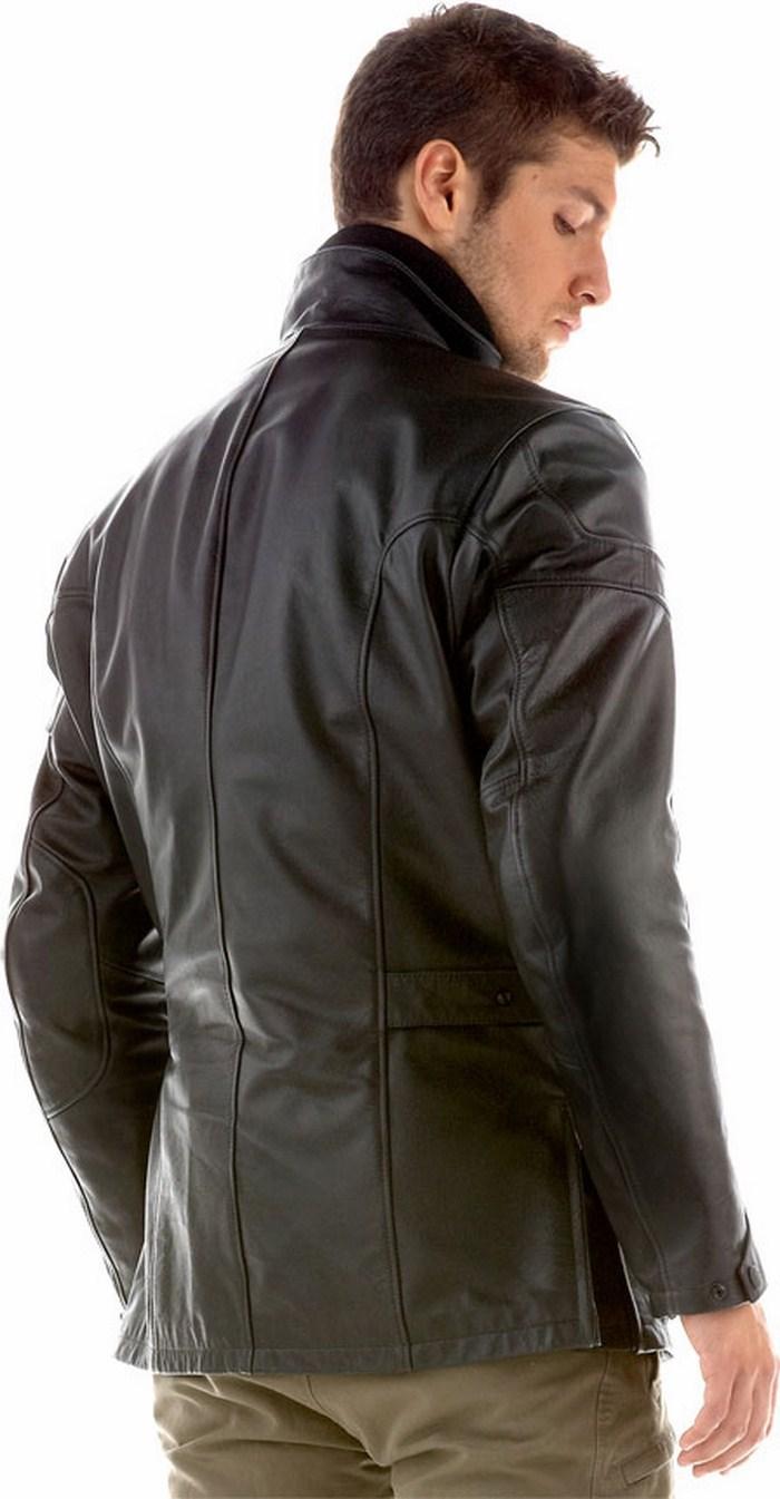 Dainese leather motorcycle jacket Super New Black