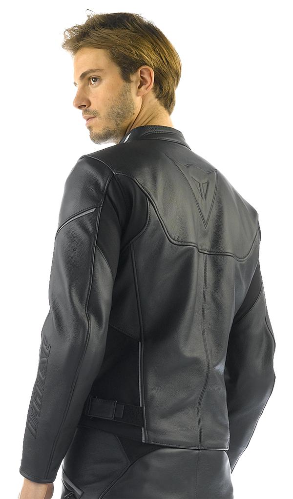 Dainese Cage motorcycle leather jacket black-black-black