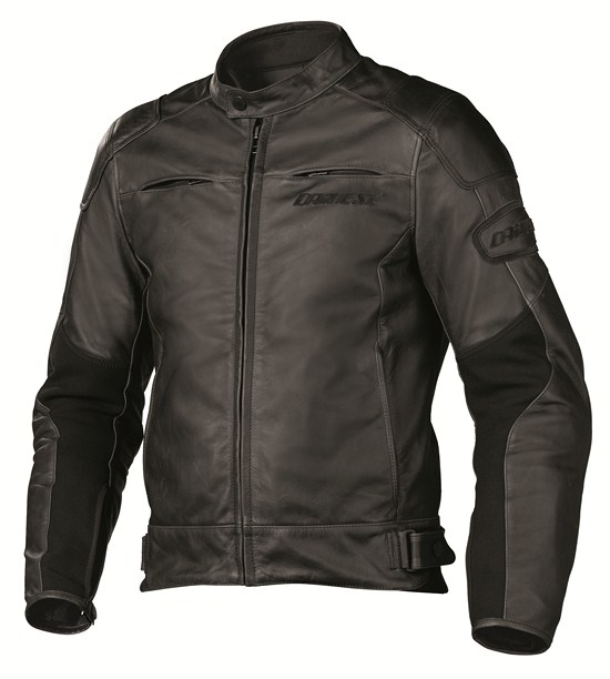 Giacca moto pelle Dainese R-Twin nera