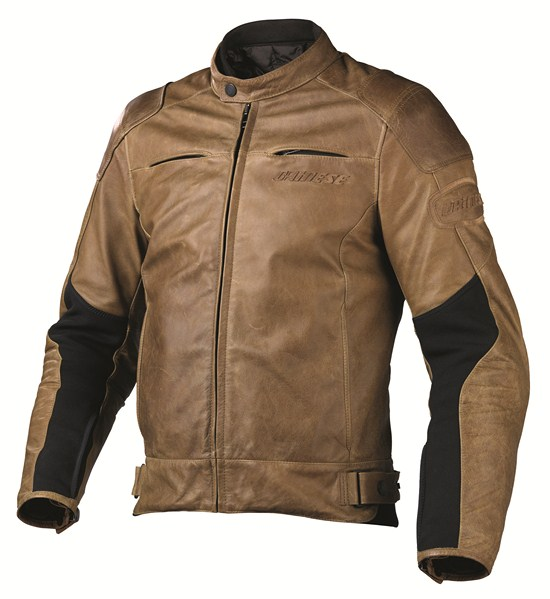 Giacca moto pelle Dainese R-Twin tabacco