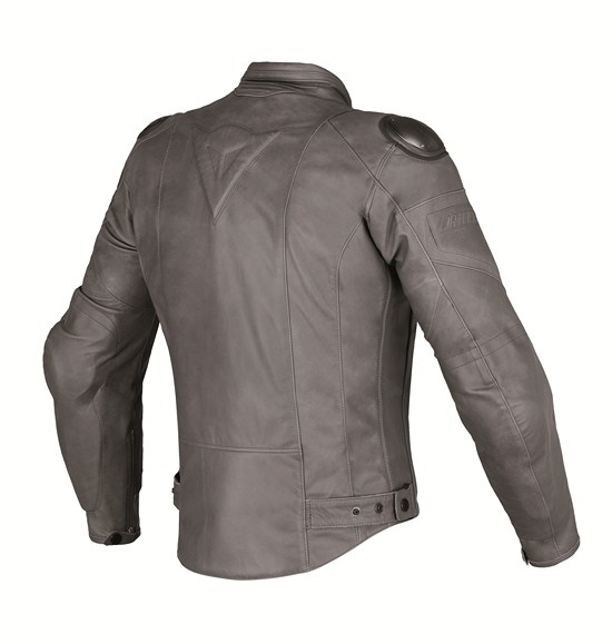 Giacca moto pelle Dainese Speed Naked magnesio