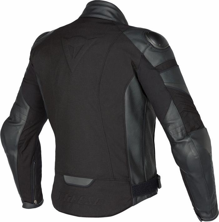 Black leather motorcycle jacket Dainese Frazer