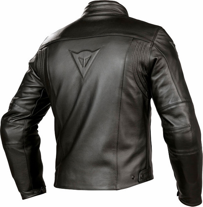 Summer leather motorcycle jacket Dainese Razon Black
