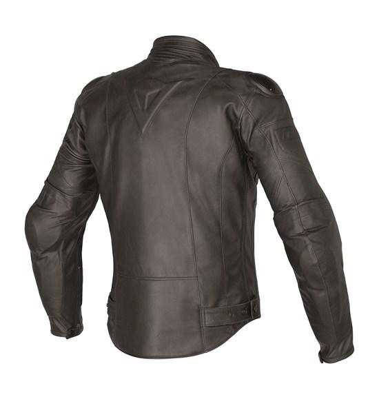 Dainese leather motorcycle jacket summer Naked Black Speed