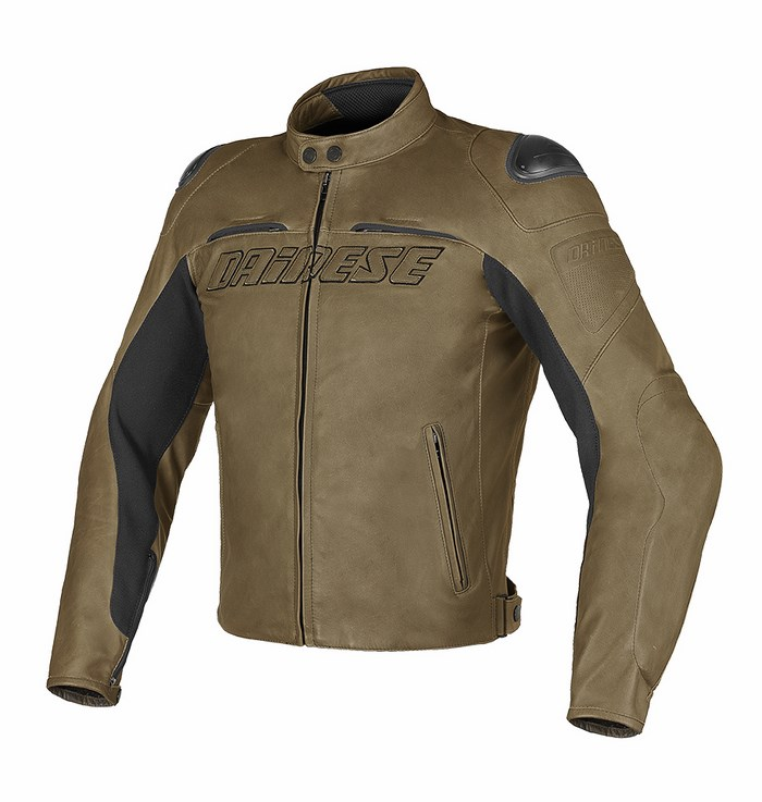 Summer leather motorcycle jacket Dainese Speed ??Naked Tobacco
