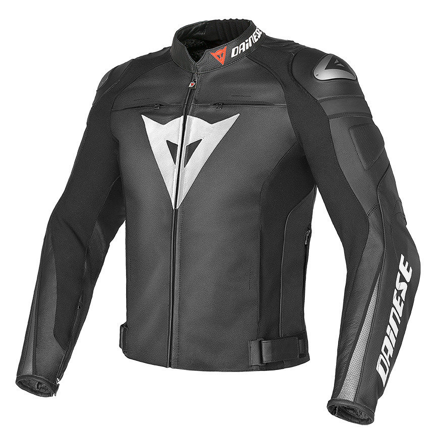 Giacca moto pelle Dainese Super Speed C2 Nero Antracite