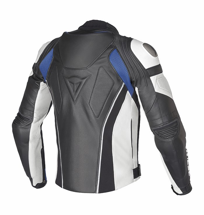 Dainese leather motorcycle jacket C2 Super Speed ??Black White B