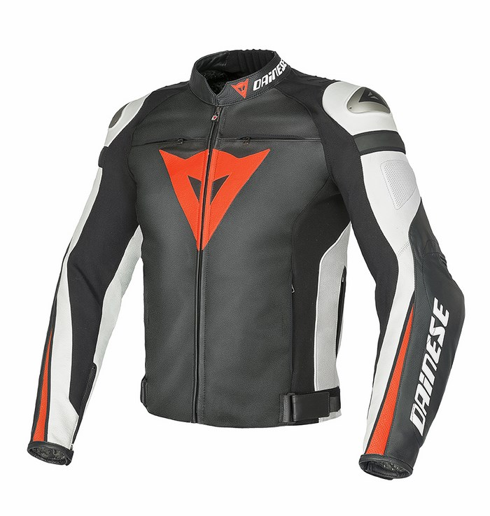 Dainese leather motorcycle jacket C2 Super Speed ??Black White R