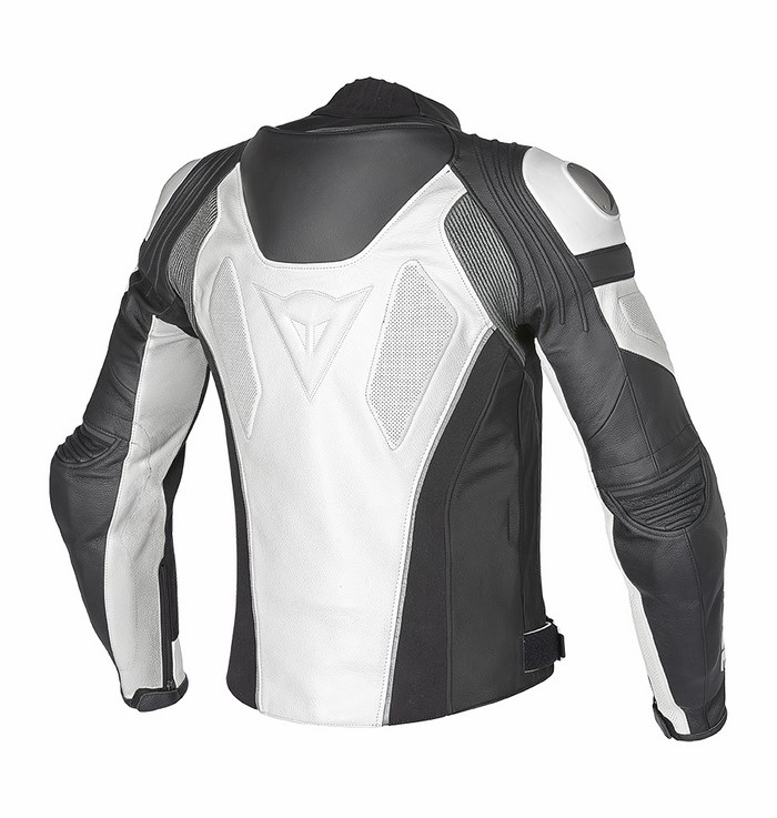 Giacca moto pelle Dainese Super Speed C2 Bianco Antracite
