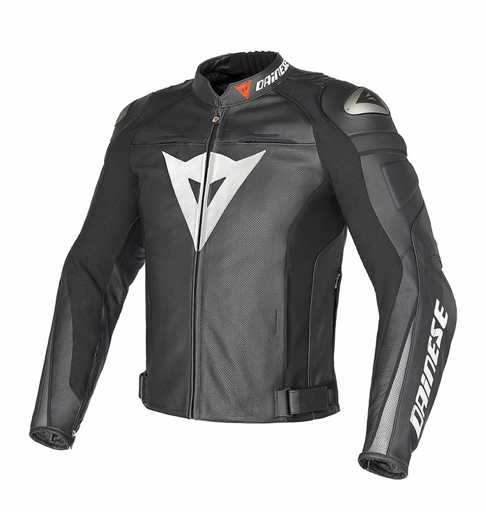 Dainese leather motorcycle jacket summer C2 Super Speed ??Black