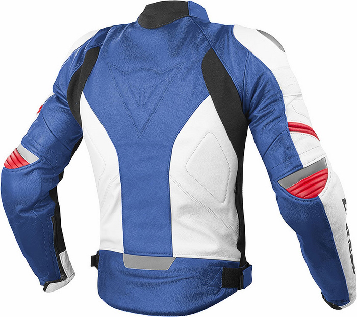 Giacca moto pelle Dainese Racing C2 Blu Bianco Rosso