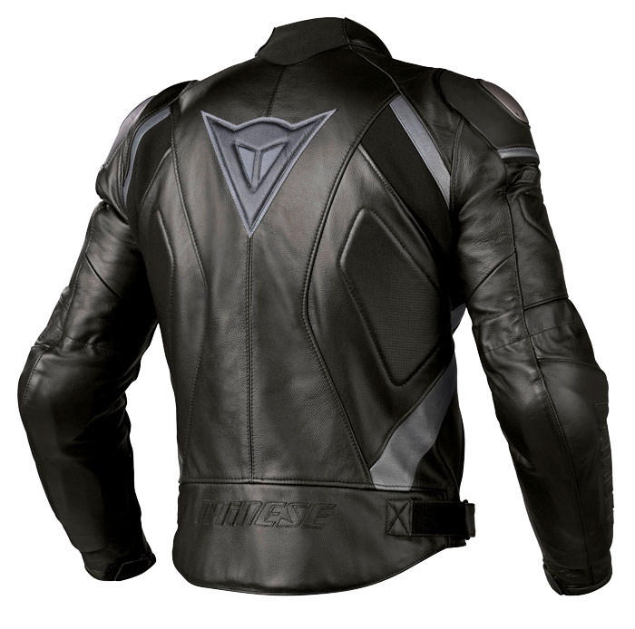Dainese Avro C2 leather jacket black black anthracite