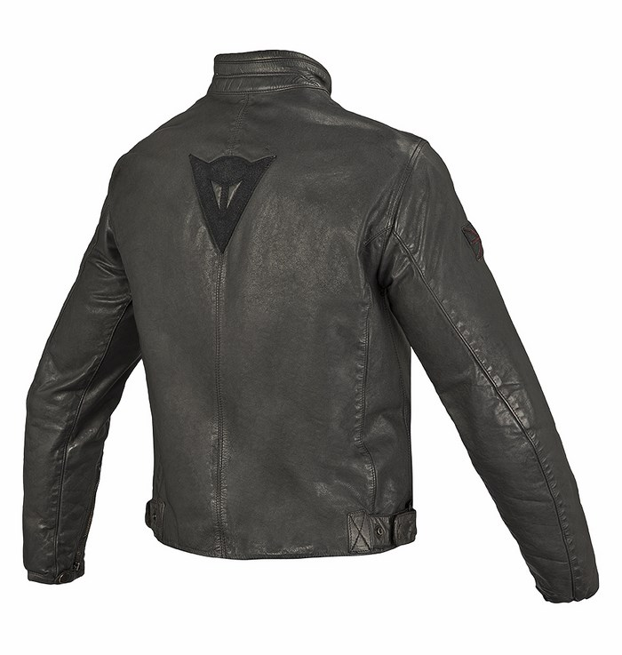 Dainese leather motorcycle jacket Archive Black Ace