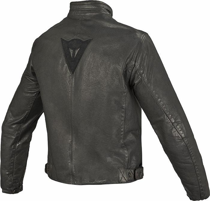 Dainese leather motorcycle jacket Archive Black Guy