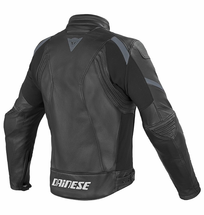 Leather motorcycle jacket Dainese Laguna Evo Black