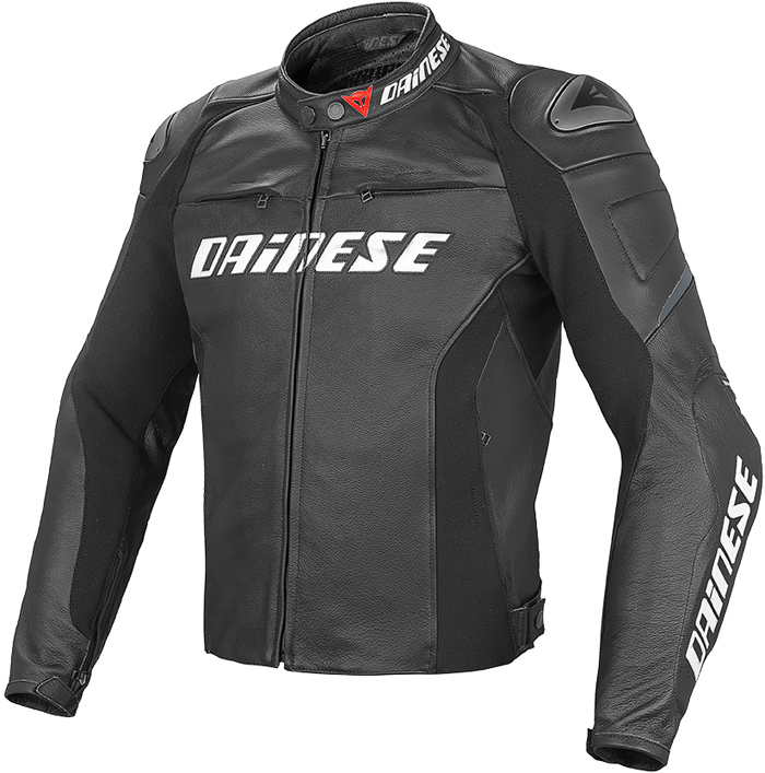 Giacca moto pelle Dainese Racing D1 Nero