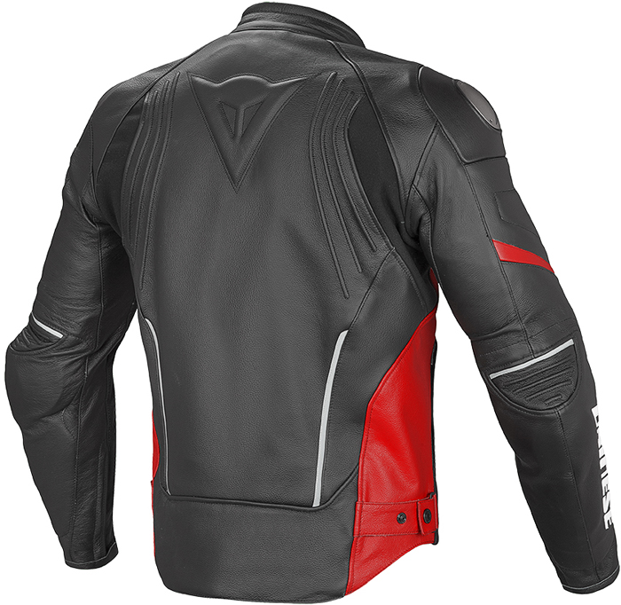 Dainese Racing D1 leather summer jacket Black Red