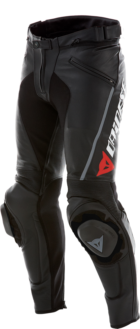 Pantaloni moto pelle Dainese Delta Pro pelle neri
