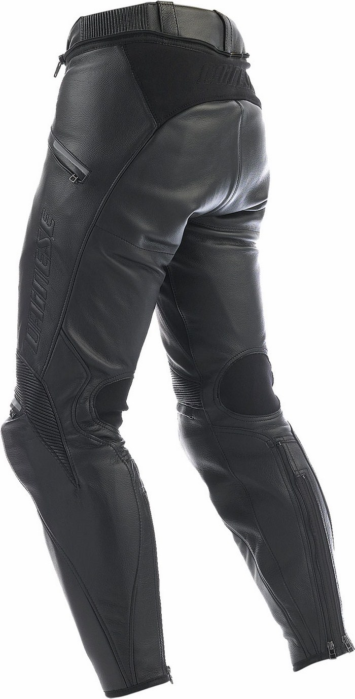 Black leather motorcycle pants Dainese Alien