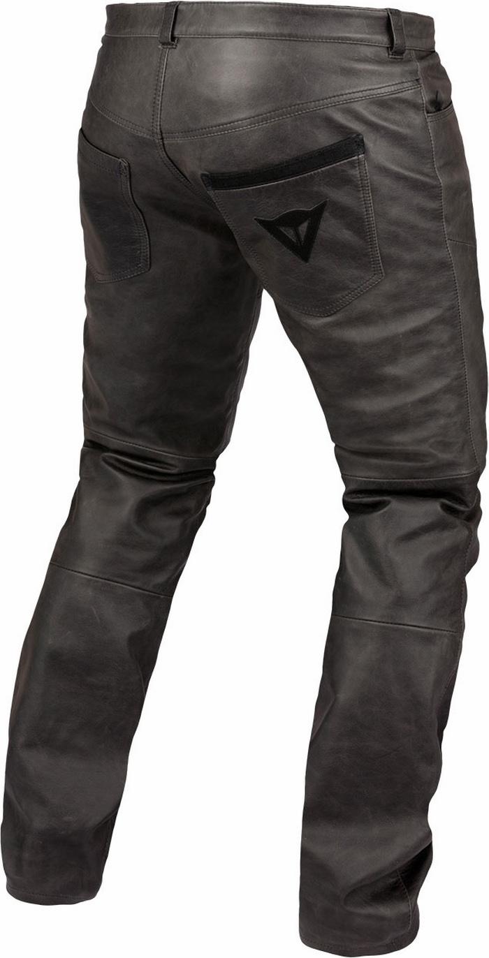 Dainese leather motorcycle pants Trophy Vintage Black