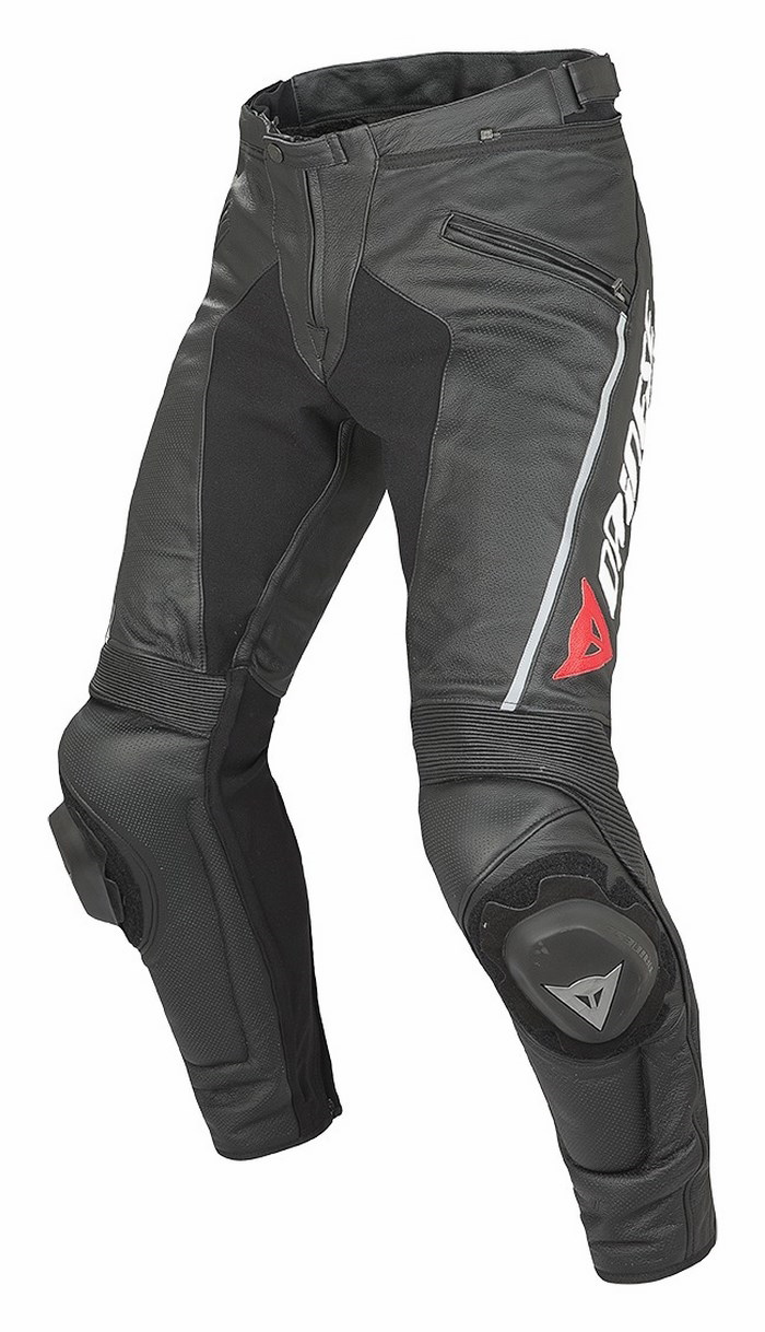 Dainese Delta leather motorcycle pants Summer Pro Evo C2 Black