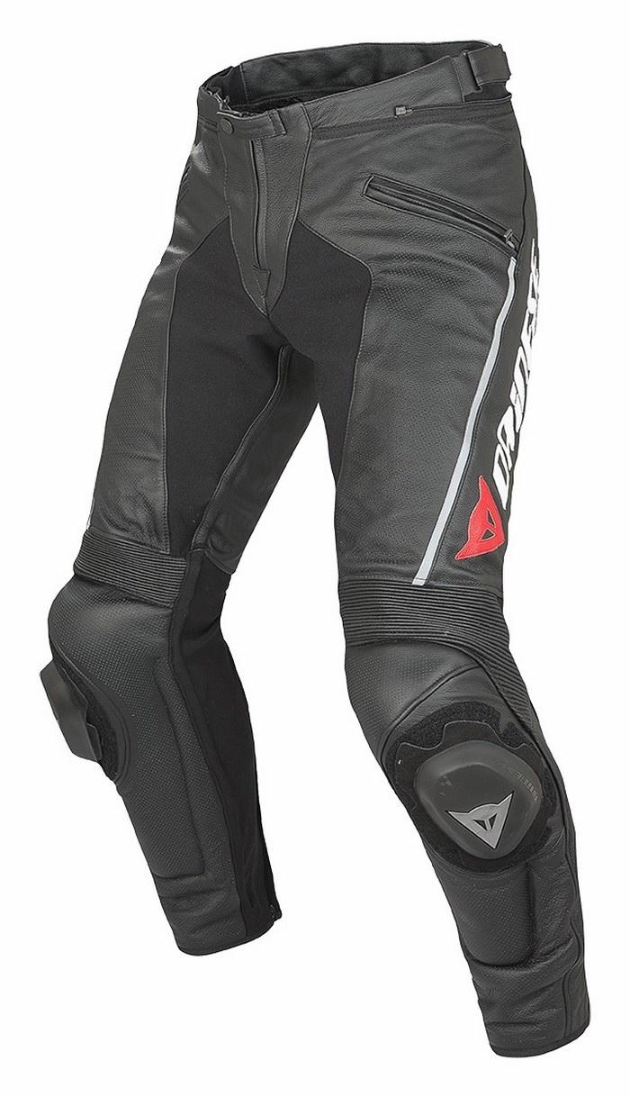 Pantaloni moto pelle estivi Dainese Delta Pro Evo C2 Nero