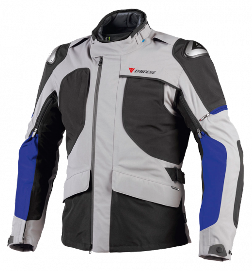 Dainese Tundr Gore-Tex motorcycle jacket Steeple Grey-black-blue