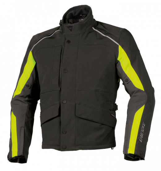 Dainese Ice-Sheet Gore-Tex motorcycle jacket black-yellow fluo