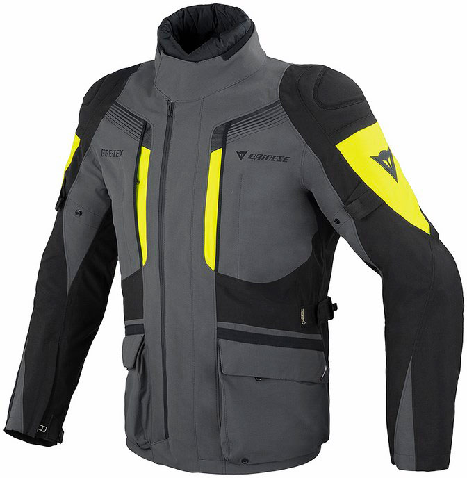 Dainese Ridder Gore-tex dark gull gray black yellow